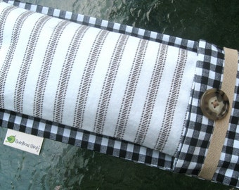 Gingham Aromatherapy Yoga Eye Pillow