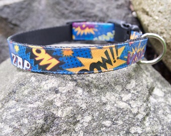 Comic Words dog collar - Pow!