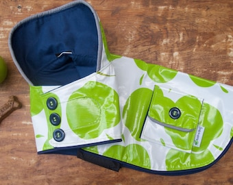 Green Apple Raincoat for your Dog