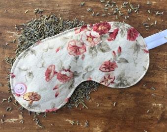 Pretty Floral Lavender Sleep Mask