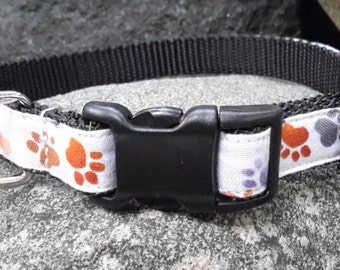 Fun Dog Collar, boy dog collar, cute dog collar, small dog collar, dog collar for boy, dog collar for girl, pet collar, paw print dog collar