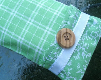 Green Flax Seed Aromatherapy Eye Pillow for headache relief, yoga, meditation, sleeping, cold or heat pack