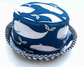 Happy Whales Bucket Hat for Babies and Kids