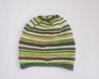 d99f1c8616b Handmade Beanie Handmade Knitted Hat Men Women Hat Slouchy Beanie Knitted  Cotton Hat Colorful Summer Beanie All Day Beanie Gift
