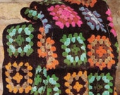 ViNTAGE 1970s ReTRO STyLE Classic Granny SQuAres CROCHeT AFGHaN BLANKeT RuG-GREaT 4 WiNter 8 PLy WoOl- CROCHEt PATTERn INSTANt PDf Download