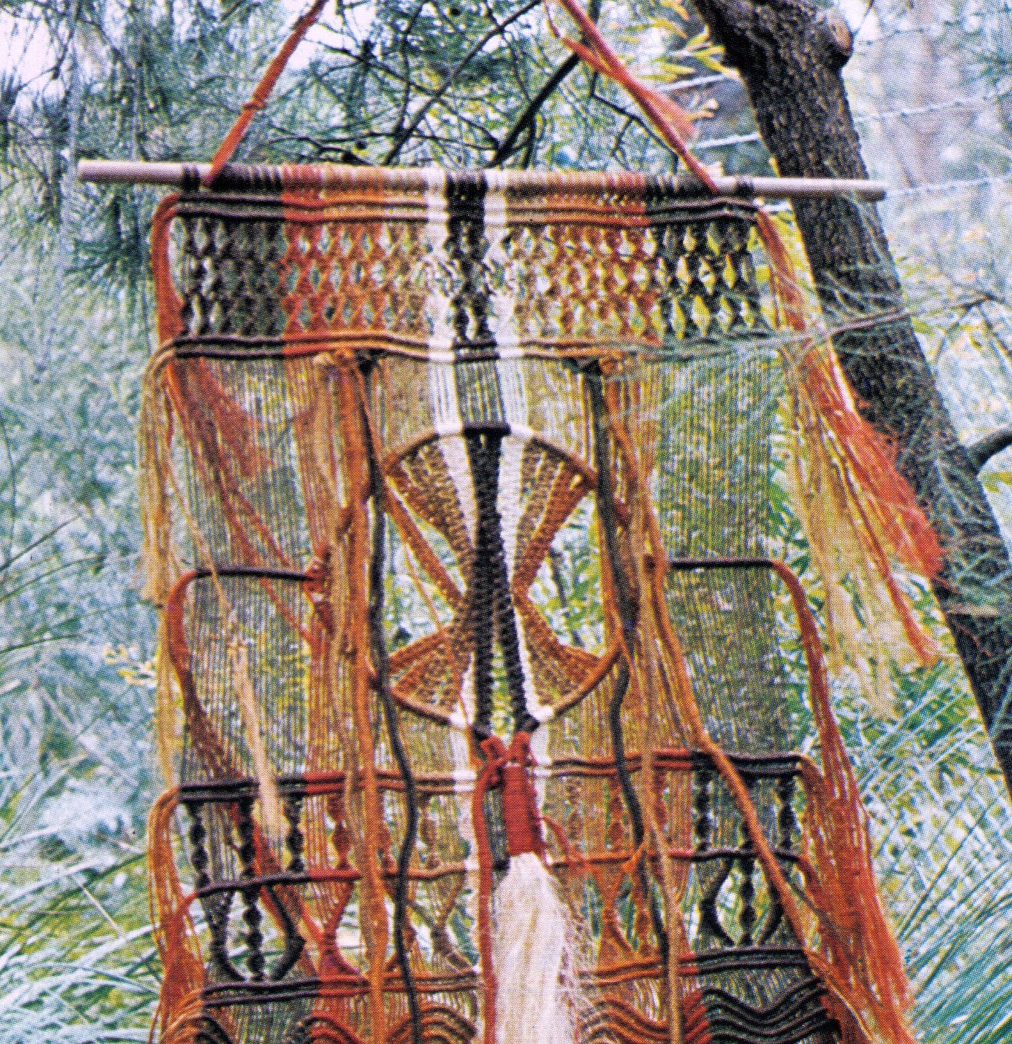 VINtAGE MACRAME WaLL Hanging LaRge DREAMCaTcher STyLe ...