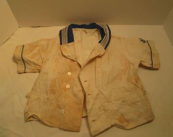 American 1920's Linern baby Sailor Navy Jumper shirt