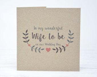 wife wedding card etsy