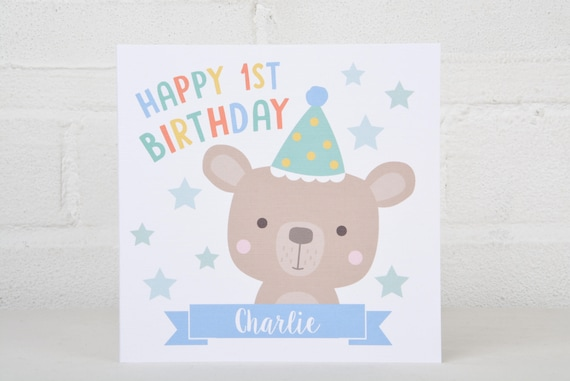 1st Birthday Card 2nd Birthday Card 3rd Birthday Card Etsy