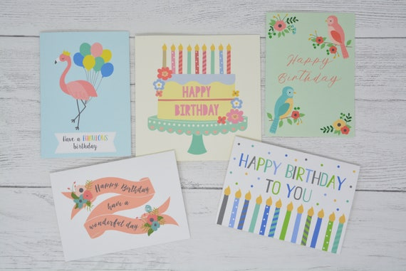 Pack Of 5 Birthday Cards Multipack