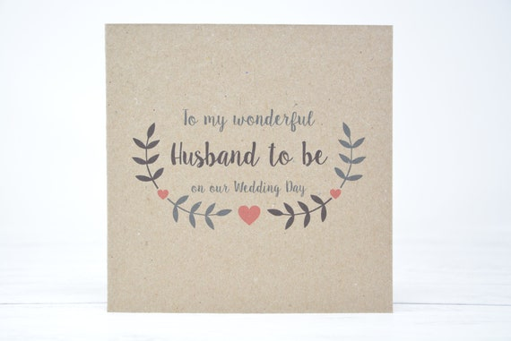 Gift For My Husband On Our Wedding Day: Husband To Be Card Husband Wedding Day Card On Our Wedding