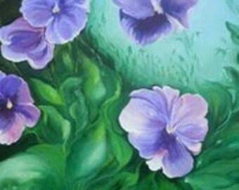 Purple Pansy Greeting Card