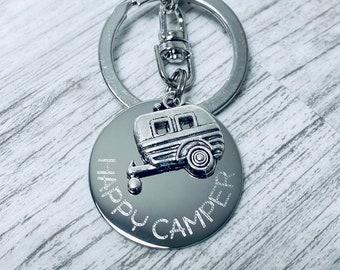 RV Trailer Charm Gift for quilter Camper zipper pull Sewing Gifts Happy Camper Camper zipper charm Camper Planner Charm