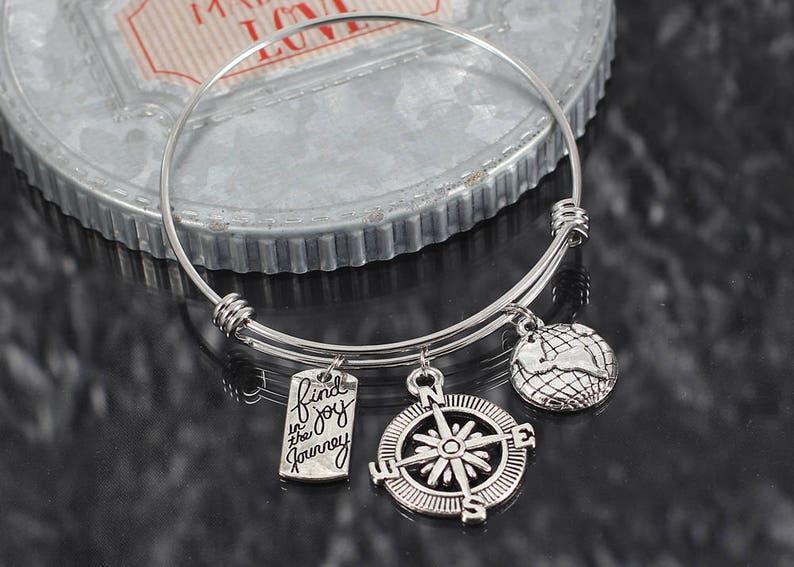 find joy in the journey jewelry Inspirational bracelet encouragement charm believe charm bracelet gift personalized inspirational gift