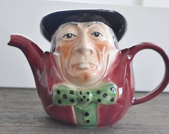 Vintage Toby Jug - Tony Wood, Staffordshire, England - Dapper little guy to add to a shelf - I'd plant some English ivy in him!
