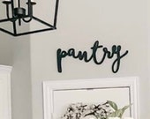 pantry kitchen decor farmhouse decor wooden word cutout sign 4 sizes available ready to hang