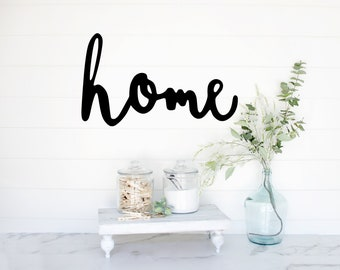 home   home sign   gallery wall sign    hand lettered font   ready to hang   quick ship   media room sign   farmhouse signs   home wall sign