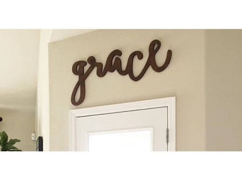 Grace Gather Wooden Wall Art Signs Big Words Kitchen Etsy