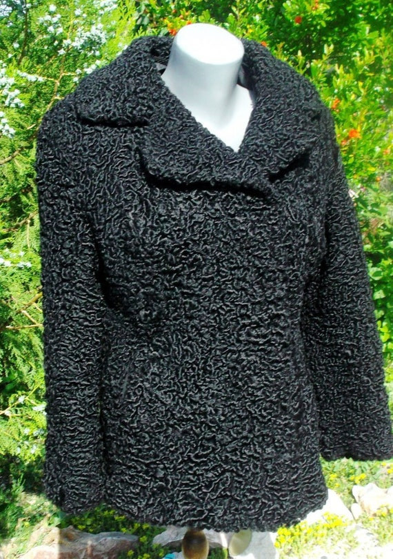 Vintage 40s ,Authentic vintage 40s ,Black fur coat