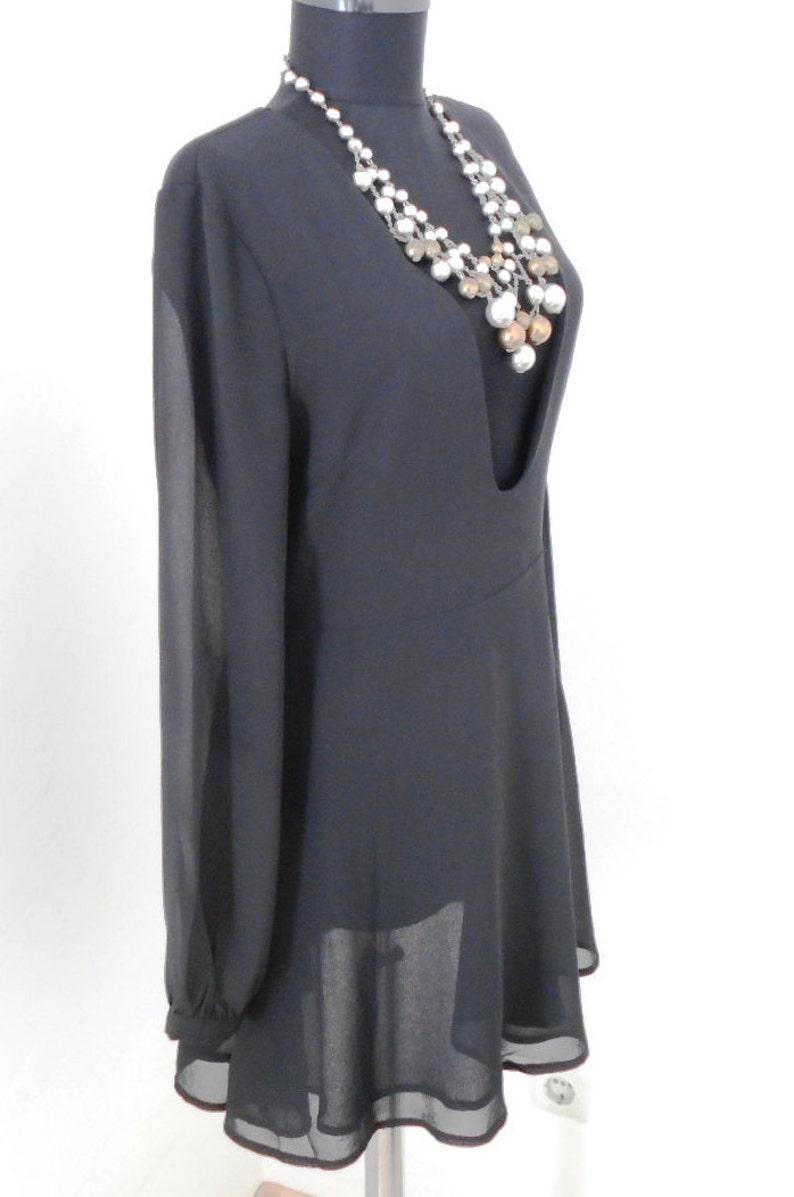 Vintage CLAOROUS black tunic
