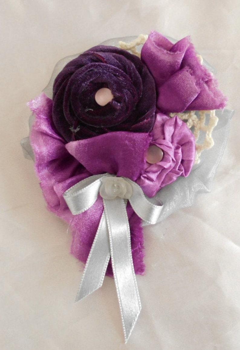 Romantic Style Handmade Shabi Shik Brooch,Textile jewerly