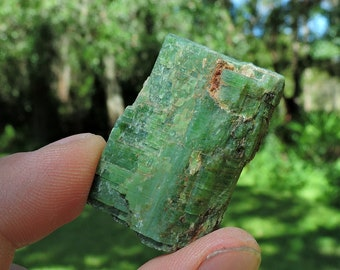 """Green Chrome Diopside from Finland, 1.4"""" Inch 140 Grams"""