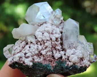"""Apophyllite Crystal Specimen from India, 2.3"""" Inch 66 Grams"""