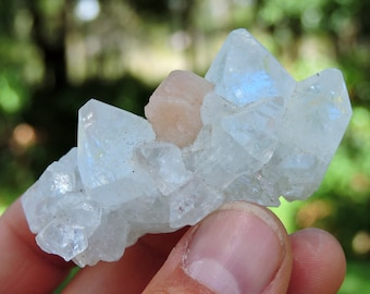 """Apophyllite with Stilbite from India, 2.3"""" Inch 66 Grams"""