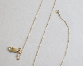 14K Yellow Gold Specialty Chain 17 Inches