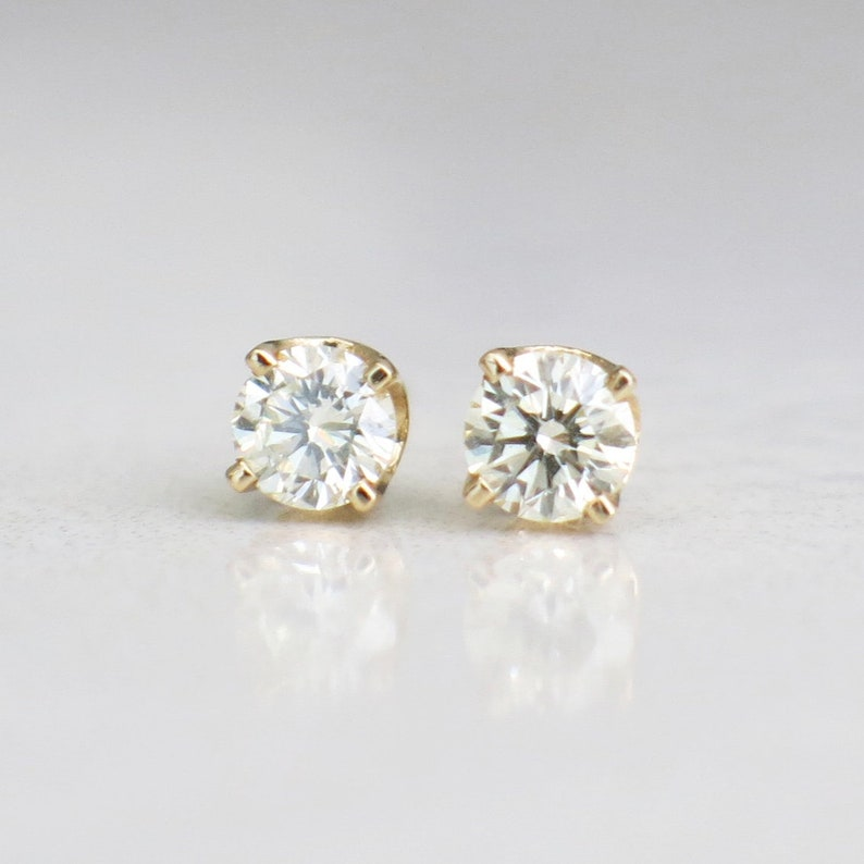 460a16792367d 14K Yellow Gold .36 CTW Diamond Earring Studs