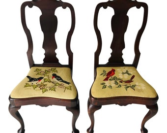 Shop Queen Anne Desk Chair Set Free Shipping Today >> Queen Anne Chair Etsy