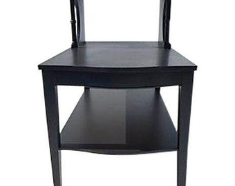 Merveilleux SALE Org, 295.00 Midcentury Mahogany Tier Side /End Table Painted In  Charcoal Gray Shipping Is NOT Free!