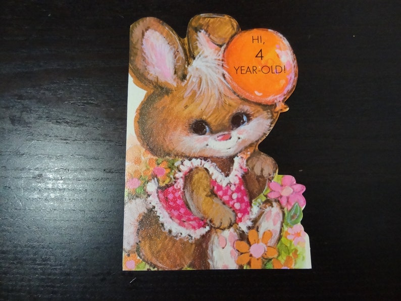 Vintage Unused Birthday Greeting Card For Boy Or Girl Turning