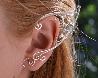 Elf Ears Ear Cuffs - Elven Ear Cuff - Boho Jewelry Bohemian Floral Freespirit