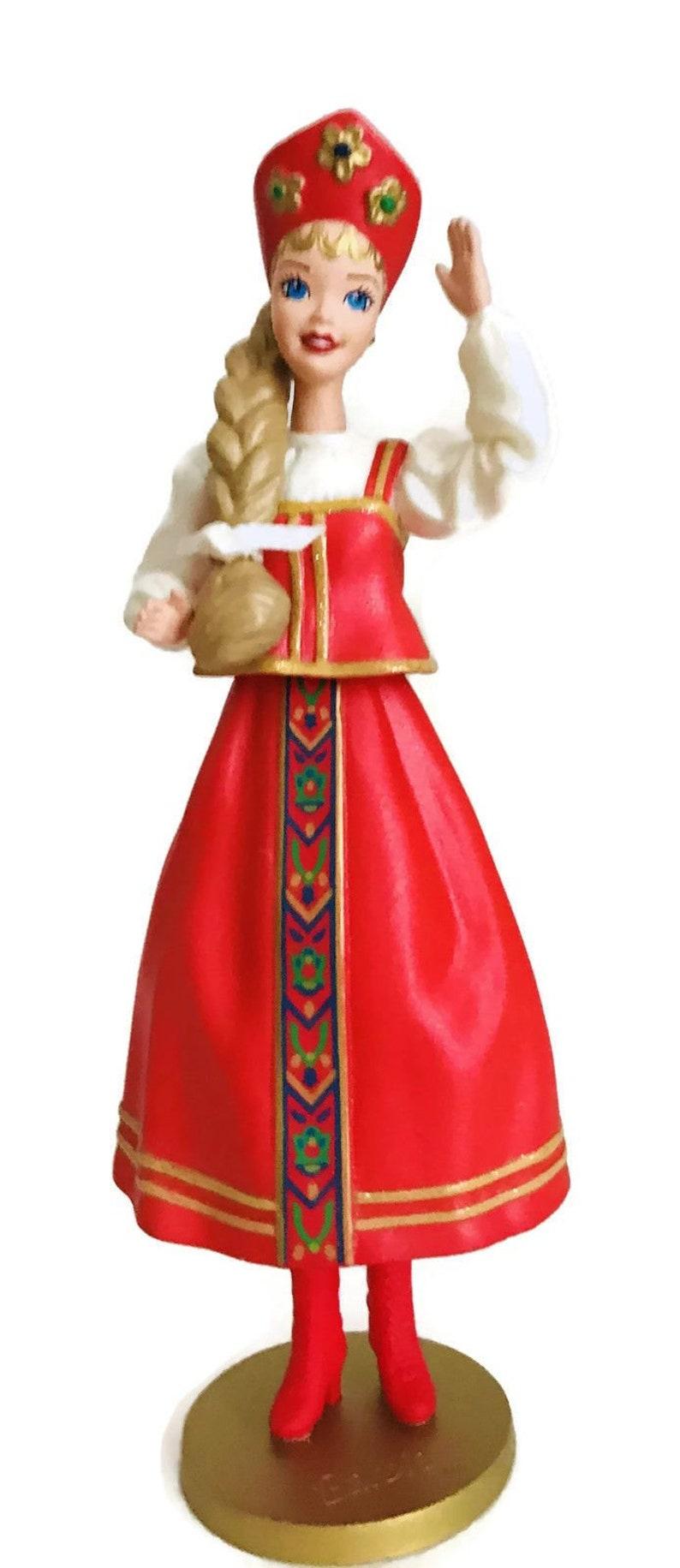 1999 Hallmark Keepsake Ornament Russian Barbie Collectors Series QX6369