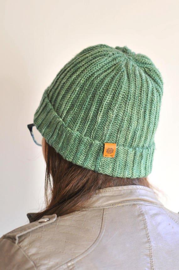 8b2174b403d Large Green Perfect Hat cashmere merino silk watchcap