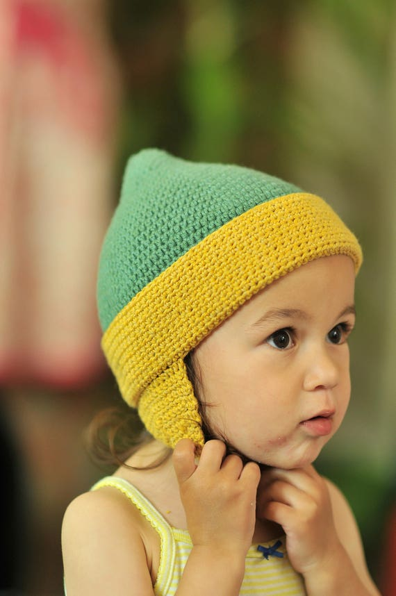 Crochet Toddler Earflap Hat wool and cotton earflap hat  486d470dfd1