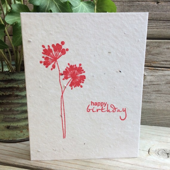 Plantable greeting card seeded paper birthdayget etsy image 0 m4hsunfo
