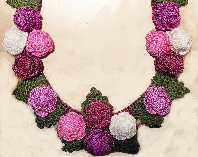 Fine silk crochet bespoke necklace