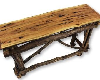 Reclaimed Wood Sofa Table, Rustic Wood Table, Reclaimed Wood Furniture, Rustic Furniture, Rustic Sofa Table, Driftwood Table, Log Furniture
