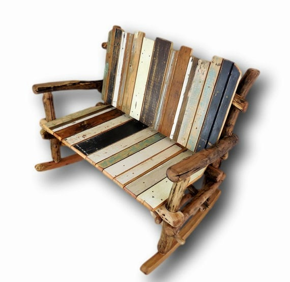 Awe Inspiring Rocking Bench Double Rocker Boho Accent Chair Shabby Chic Chair Reclaimed Wood Chair Wooden Rocking Chair Onthecornerstone Fun Painted Chair Ideas Images Onthecornerstoneorg