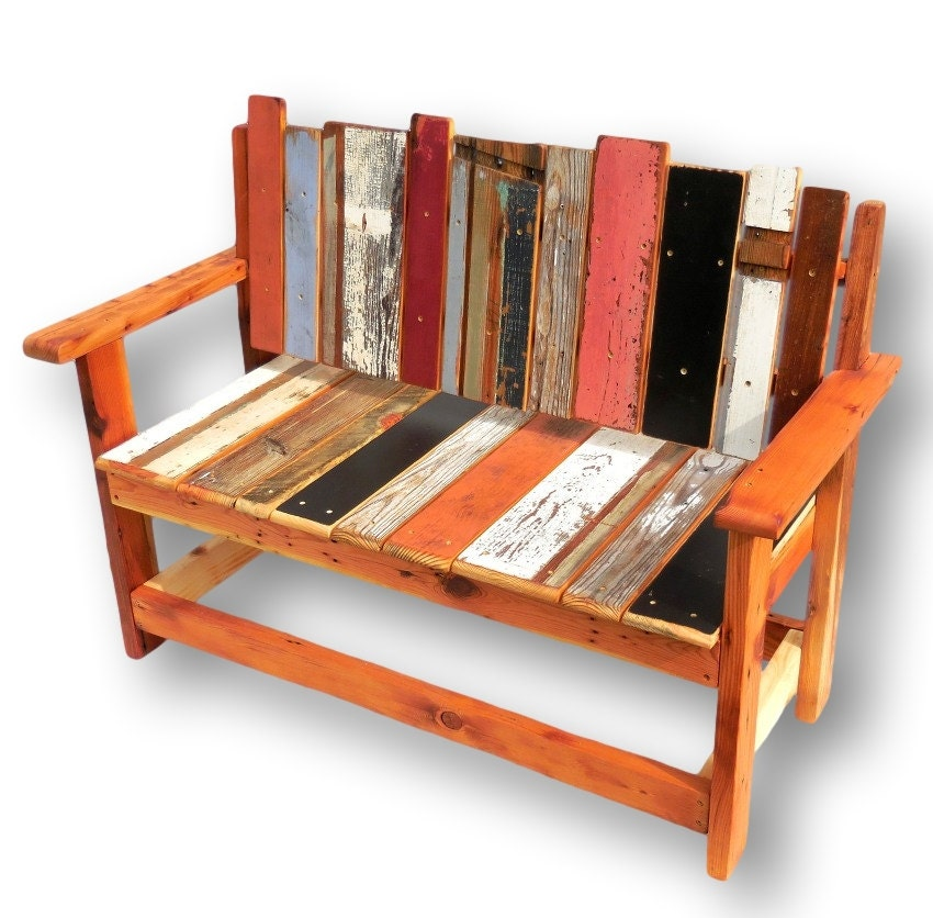 Reclaimed Wood Entryway Bench Pallet Bench Pallet ...