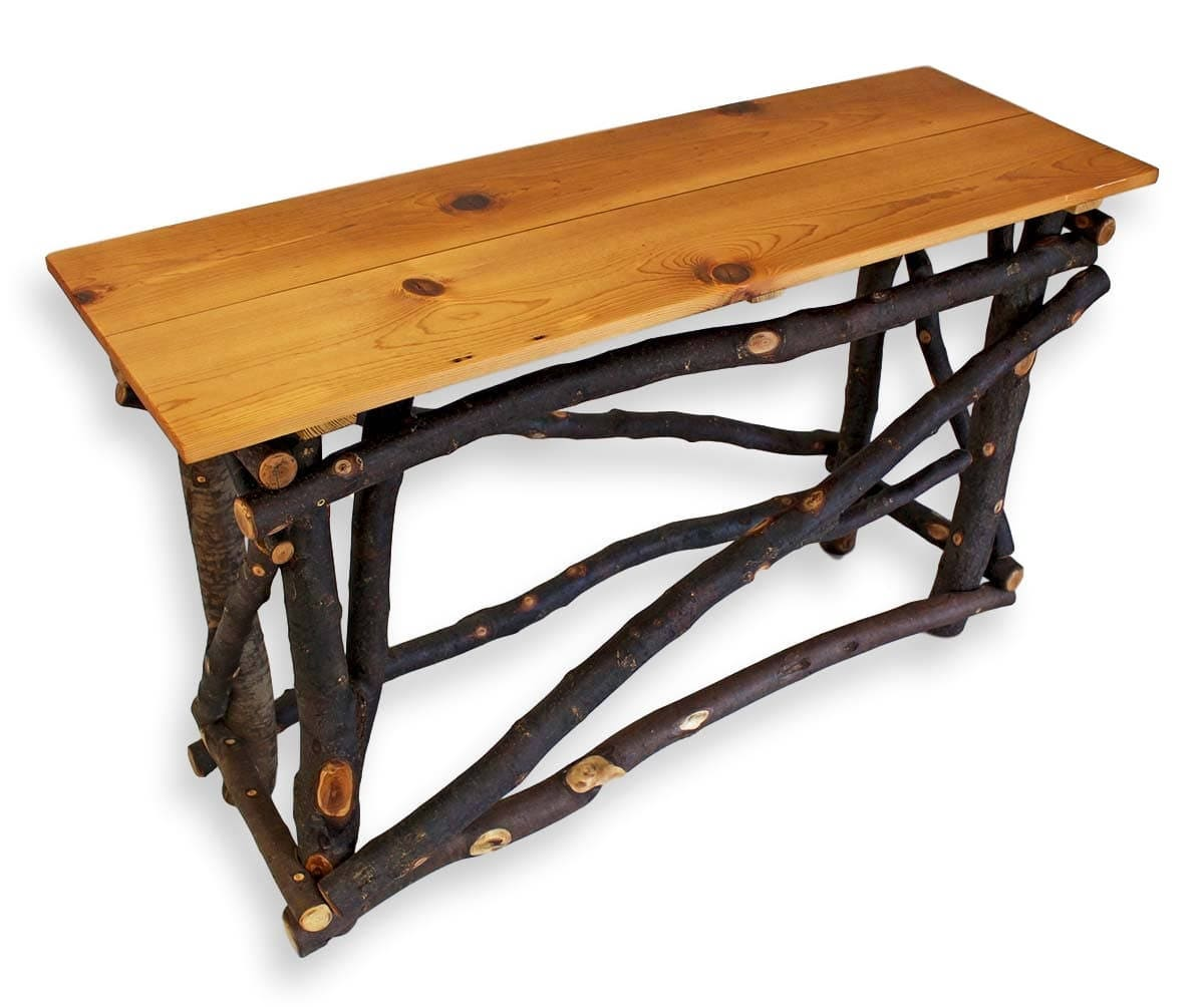 Reclaimed Wood Sofa Table Rustic Console Table Reclaimed