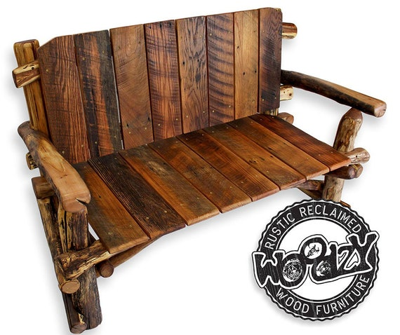 Surprising Reclaimed Wood Bench Entry Bench Rustic Wood Bench Custom Furniture Machost Co Dining Chair Design Ideas Machostcouk