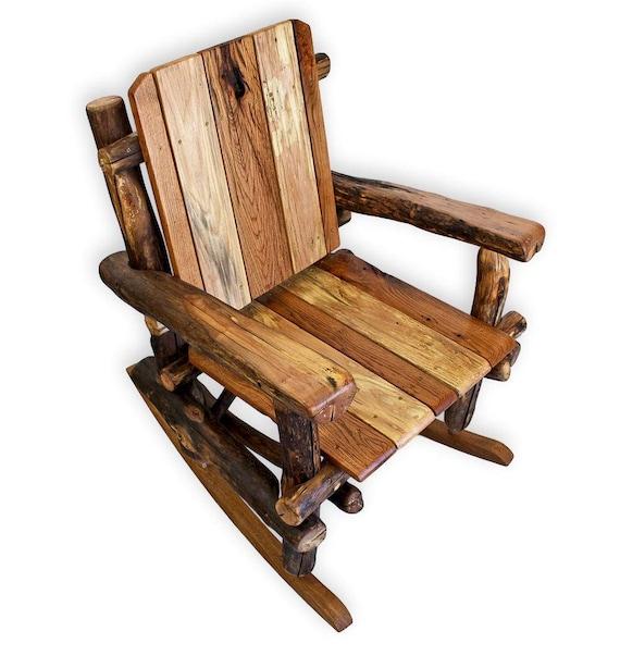 Beau Wood Rocking Chair Rustic Chair Reclaimed Wood Furniture