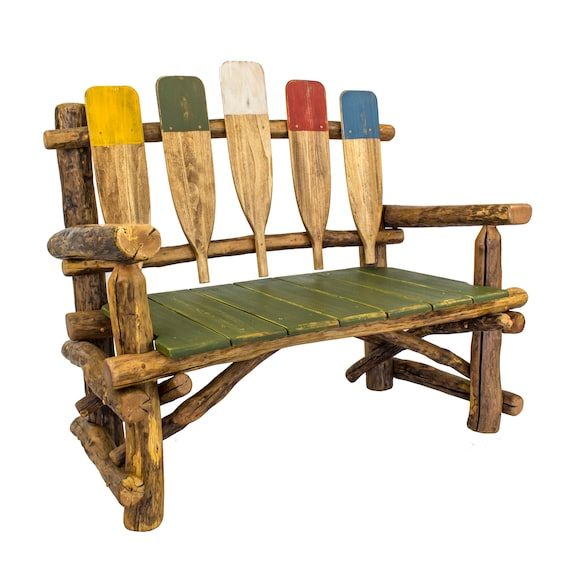 Tremendous Lake House Decor Rustic Wood Bench Lake House Furniture Outdoor Furniture Log Furniture Alphanode Cool Chair Designs And Ideas Alphanodeonline