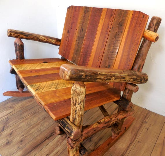 Enjoyable Rocking Bench Double Rocker Boho Accent Chair Shabby Chic Chair Reclaimed Wood Chair Wooden Rocking Chair Onthecornerstone Fun Painted Chair Ideas Images Onthecornerstoneorg