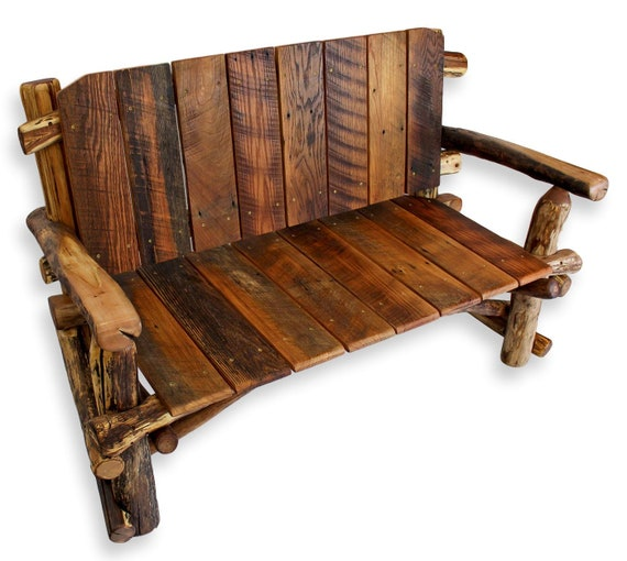 Sensational Reclaimed Wood Bench Entry Bench Rustic Wood Bench Custom Furniture Machost Co Dining Chair Design Ideas Machostcouk