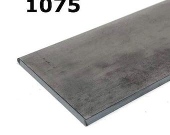 1075 High Carbon Blade Steel Flat Bar- Various Sizes