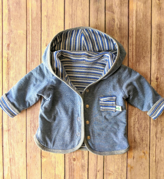 a28c3cdb3 Baby Boy Hood Jacket Infant Baby Boy Jacket French Terry